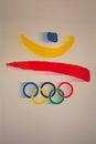 Olympic Logo Barcelona Games Emblem Royalty Free Stock Photo
