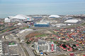 Olympic park sochi adler russia mar in adlersky district krasnodar krai venue for the winter olympics top view Royalty Free Stock Photos