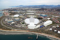 Olympic park sochi adler russia mar in adlersky district krasnodar krai venue for the winter olympics top view Stock Images