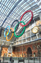Olympic Rings in London Stock Photos