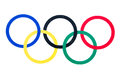 Olympic Rings Royalty Free Stock Photo