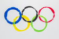 Olympic Rings water color Royalty Free Stock Photo