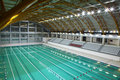 Olympic sized swimming pool Royalty Free Stock Photography