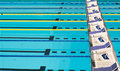Olympic Sport Competition Swimming Pool Lanes Royalty Free Stock Photo