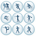 Olympic Sport Icons Set 1 Royalty Free Stock Photo