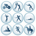 Olympic Sport Icons Set 3 Royalty Free Stock Photo