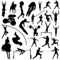 Olympic sport silhouettes Royalty Free Stock Photo