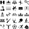 Olympic sports icons Royalty Free Stock Photos