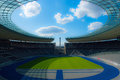 Olympic stadium berlin teh field of the olympia stadion in Stock Images