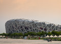 The olympic stadium birds nest bird s is an artwork in itself due to its construction and composition it is one of two primary Royalty Free Stock Photos
