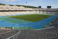 Olympic stadium lluis companys in barcelona spain august spain on august this hosted the summer games Royalty Free Stock Photography
