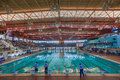 Olympic swimming pool indoors durban size kings park in Stock Images