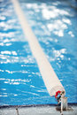 Olympic swimming pool lane divider Royalty Free Stock Photo