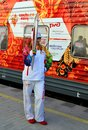 Olympic torch relay in Sochi Stock Photography
