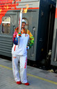 Olympic torch relay in Sochi Stock Images