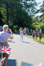 Olympic Torchbearer in Kew Gardens Royalty Free Stock Photos