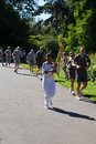 Olympic Torchbearer in Kew Gardens Stock Photo
