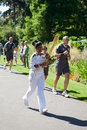 Olympic Torchbearer in Kew Gardens Royalty Free Stock Photography