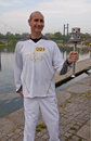 Olympic Torchbearer Paul Giblin, Royalty Free Stock Photos