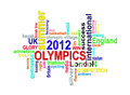 Olympics 2012 - London Summer Games word cloud Royalty Free Stock Image