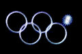 Olympics rings fail Stock Images