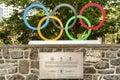Olympische ringe Lizenzfreie Stockbilder