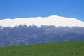 Olympus mountain covered by snow in greece Royalty Free Stock Photography