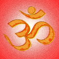 Om or aum hinduism symbol Royalty Free Stock Photo