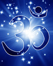 Om aum symbol with a spotlight on it Royalty Free Stock Photo