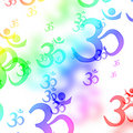 Om aum symbols Royalty Free Stock Photo