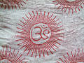 Om on cloth Royalty Free Stock Photo