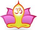Om lotus meditation