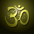 Om symbol vector design art Stock Photography