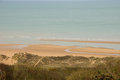 Omaha Beach in Colleville sur Mer in Normandy Royalty Free Stock Photo