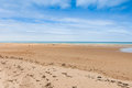 Omaha beach france people stroll on in normandy Royalty Free Stock Photo