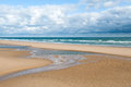 Omaha beach normandy france is one of the five landing beaches in the landings on june during world war ii is located on the coast Royalty Free Stock Images