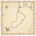 Oman old pirate map.