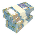 Omani rials bills isolated on white background. Royalty Free Stock Photo