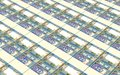 Omani rials bills stacked background. Royalty Free Stock Photo