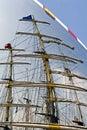 Omasztowywa pożeglować wysokich statków Zdjęcie Royalty Free