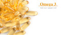 Omega3 capsules Royalty Free Stock Photo