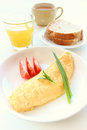 Omelet breakfast Royalty Free Stock Image