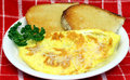 Omelet with Toast Royalty Free Stock Photos