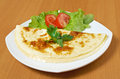 Omelet with vegetable close up Stock Image