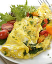 Omelet With Vegetables Stock Photos