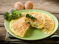 Omelette with broccoli Royalty Free Stock Photo