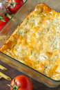 Omelette frittata egg based dish enriched with additional ingredients such as cheeses vegetables and pasta flavored with herbs Stock Photos