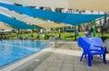 Omer israel june swimming pool omer negev june in israel beer sheva opening of the summer season the children s Stock Image