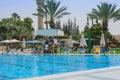 Omer negev israel june summer outdoor pool omer negev june in israel opening of the season the children s swimming Stock Image