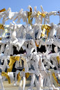 Omikuji japanese paper fortune close up of Stock Image